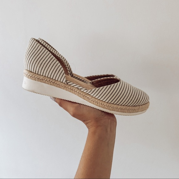 Life Stride Shoes - Lifestride Cassidy Espadrille Flats Gray Stripe 8